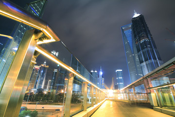 Far East city of Shanghai Lujiazui Night scenery