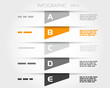 orange transparent striped infographic trapeziums