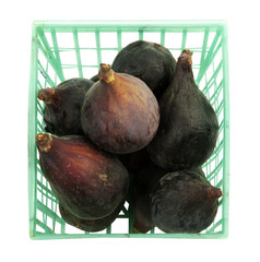 basket of fresh figs, isolated