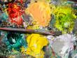 Farbpalette eines Malers, Hintergrund