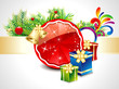 abstract christmas background with gift