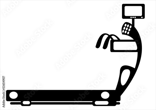 .simulator running track on white background