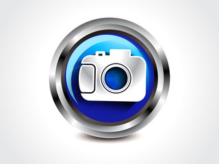 abstract glossy camera button