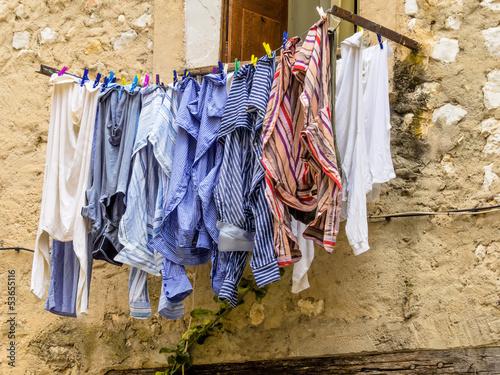 Wäsche auf der Leine