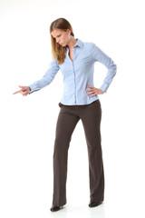 Posende Geschäftsfrau