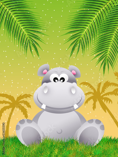Hippo in the forest