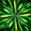Green colors explosion illustration.