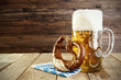 canvas print picture - Beer and Pretzel; Oktoberfest