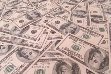 moneda en billetes en diferentes posiciones