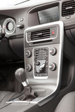 Premium car grey and metallic dashboard