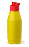 Yellow plastic mustard bottle