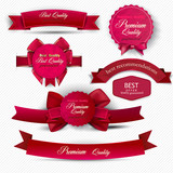 Set of Superior Quality and Satisfaction Guarantee Ribbons, Labe
