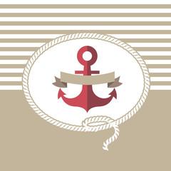 Sea card with anchor