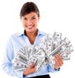Millionaire business woman