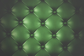 Luxury green leather close-up background