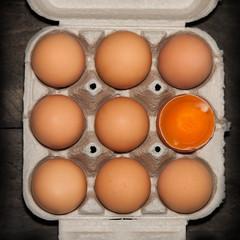 Eier von oben quadratisch