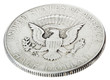 Silver Kennedy Half Dollar - Tails High Angle