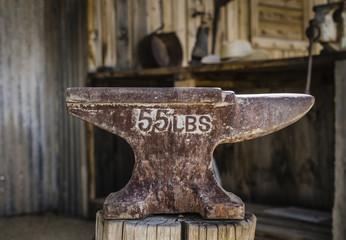 Blacksmith anvil wild west town