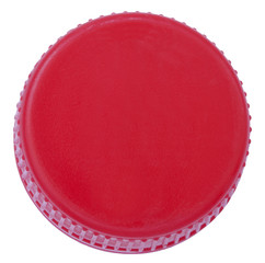 Isolated Red Plastic Cap