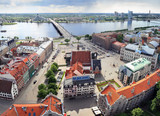 Bird's eye view of the Old town, Riga (Latvia)