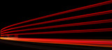 Abstract orange, red and yellow lights in road tunnel