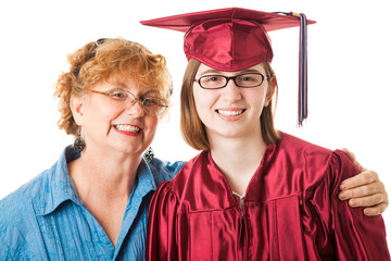 Smiling Graduate and Mother