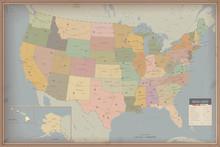 Carte très détaillée des États-Unis. Autoroute et carte de la population