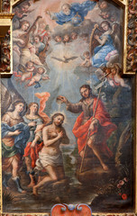 Toledo - Baptism of Christ from church Iglesia de san Idefonso