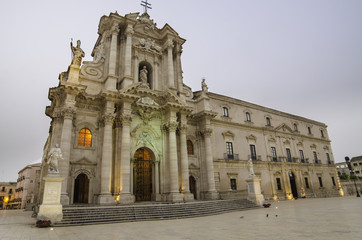 The cathedral of Syracuse, Sicily, Italy