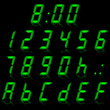 digital numbers green - italic & reflect