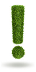 Exclamation mark natural grass
