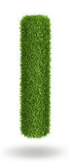 Natural grass letter I