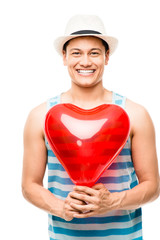 latino lover man valentines day heart love balloon