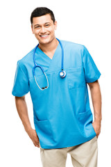 medical doctor nurse latin american mixed race hispanic happy me
