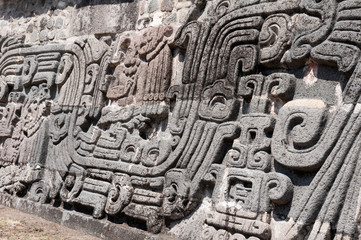 Glyph in the archaeological site of  Xochicalco (Mexico)
