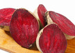 Fresh beetroots on cutting board