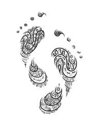 Ornamental footprint for your design