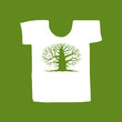 Big tree green on white t-shirt for your design