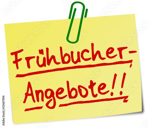 Frühbucher Rabatt Notiz  #130626-svg05