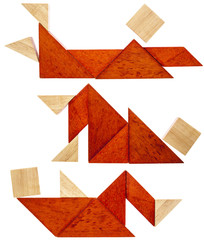 tangram resting figures