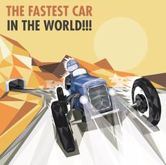 Vintage Racing Car Poster