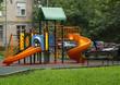 Children playground in the yard