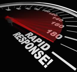 Rapid Response Speedometer Emergency Crisis Service