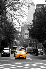 Taxis on SOHO streets, New York, USA