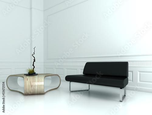 Weißer Barock Raum mit Design Möbeln und Deko