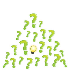 question mark bulb clear