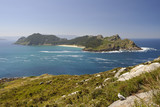 Cies Islands Landscape. Natural Park Atlantic islands