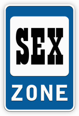 Sign SEX zone