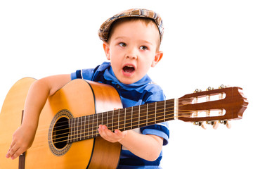 Boy and guitar