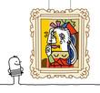 man watching a Pablo imitation